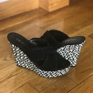 Guess Black & White Wedges